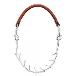 Pronged Leather Goat Collar Weaver